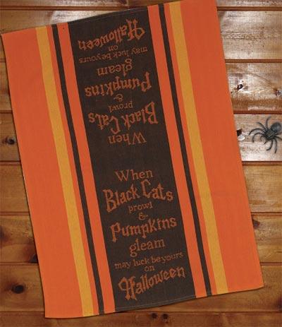 Halloween Jacquard Tea Towel