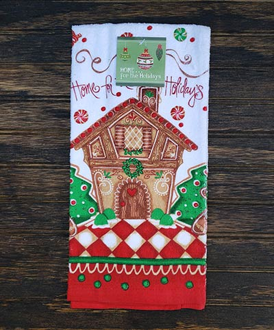 Holiday Gingerbread Terry Dishtowel