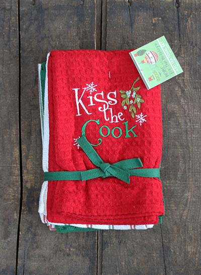 Kiss the Cook Towels (Set of 4)