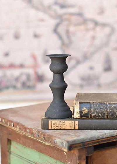 Black Alette Candle Holder - 5.5 inch