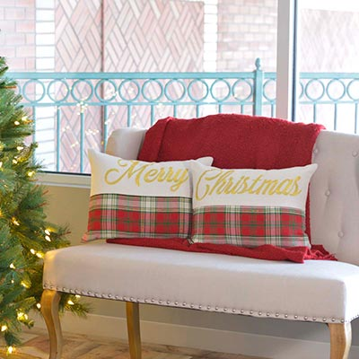 HO HO Holiday Pillow (Set of 2) (14x18)