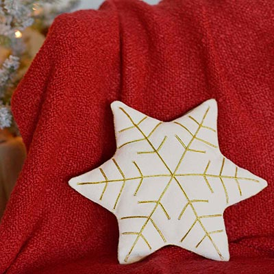 HO HO Holiday Snowflake Pillow (14x12)