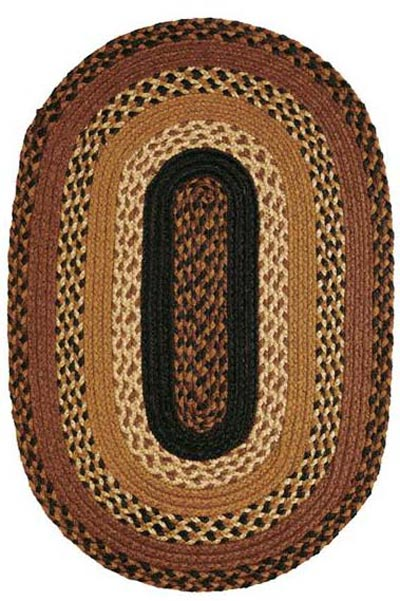 Harvest Time Jute Rug - Oval (Multiple Size Options)