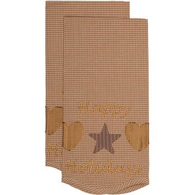 Hearts and Stars Tea Towel (Set of 2) 19x28