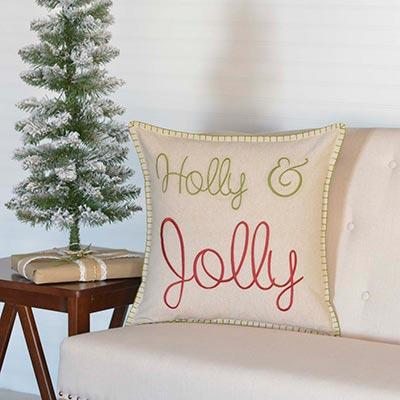 Holly & Jolly Pillow (18x18)