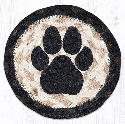 Dog Paw Braided Coaster