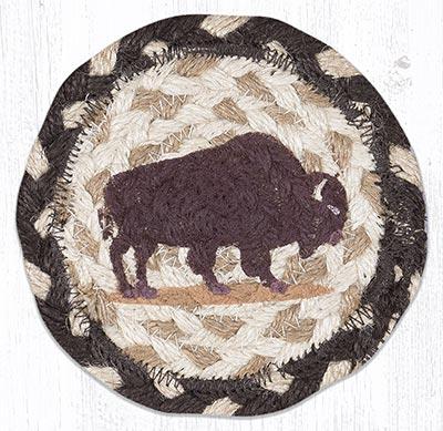 Buffalo Braided Coaster