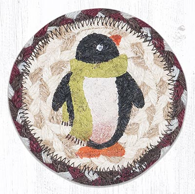 Penguin Braided Coaster
