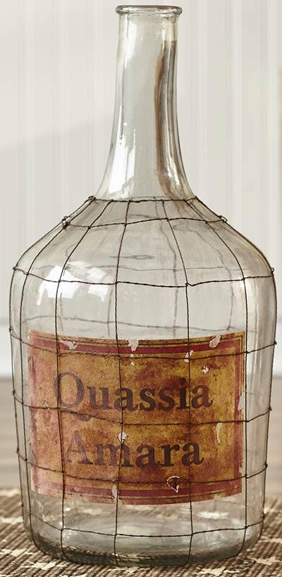 Glass Jug with Vintage Label (Large)