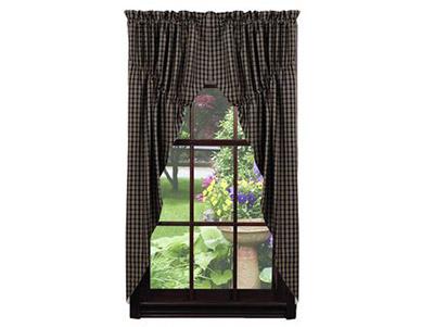 Cambridge Black Prairie Curtain (63 inch)