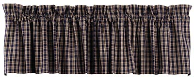 Cambridge Navy Blue Plaid Valance
