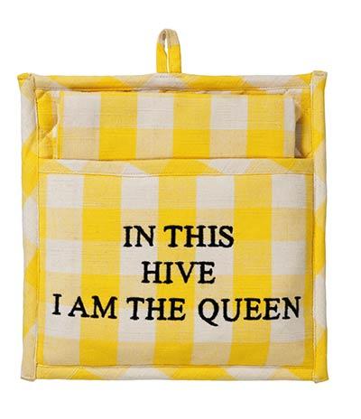 Picnic Yellow Pot Holder Gift Set