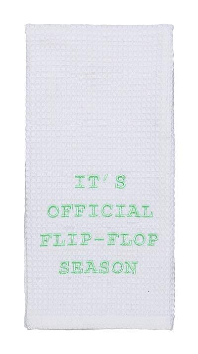 Flip Flop Season Dishtowel