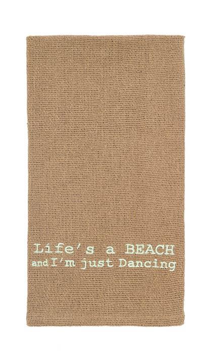 Life's a Beach Dishtowel