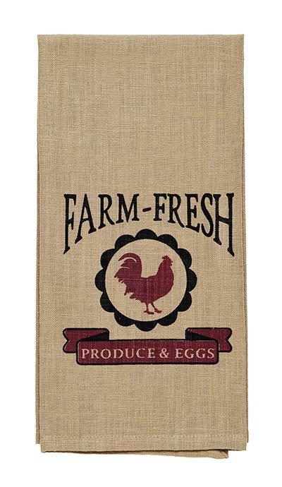 Farm Fresh Rooster Dishtowel
