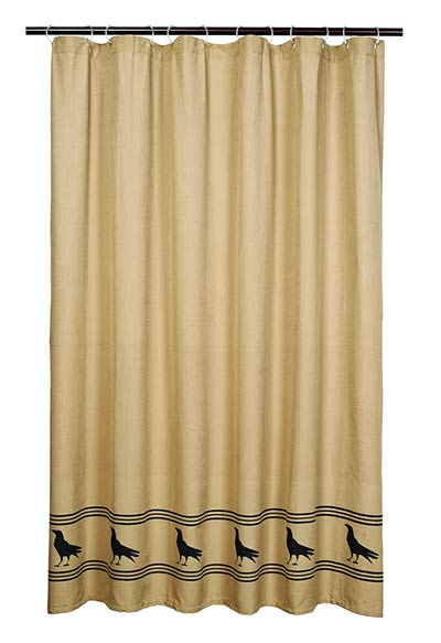 Olde Crow Shower Curtain