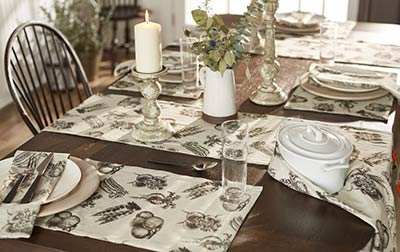 fresh produce 36 inch table runner by olivias heartland the weed patch. Black Bedroom Furniture Sets. Home Design Ideas