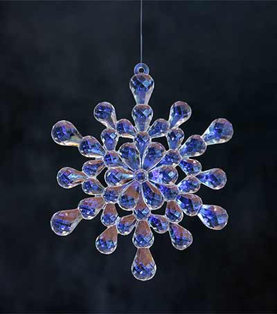 Iridescent Cluster Snowflake Ornament