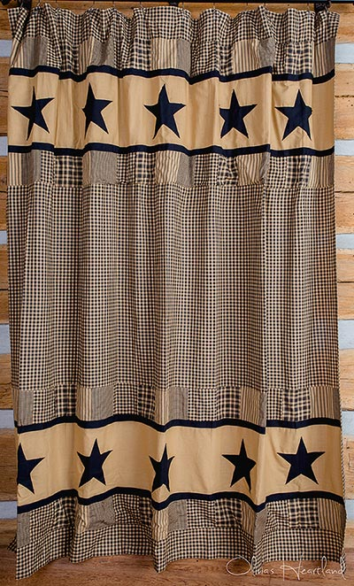 Jametown Black and Tan Shower Curtain