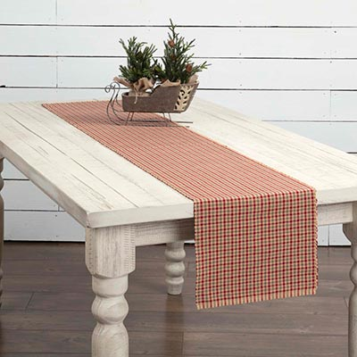 Jonathan Plaid Ribbed 72 inch Table Runner