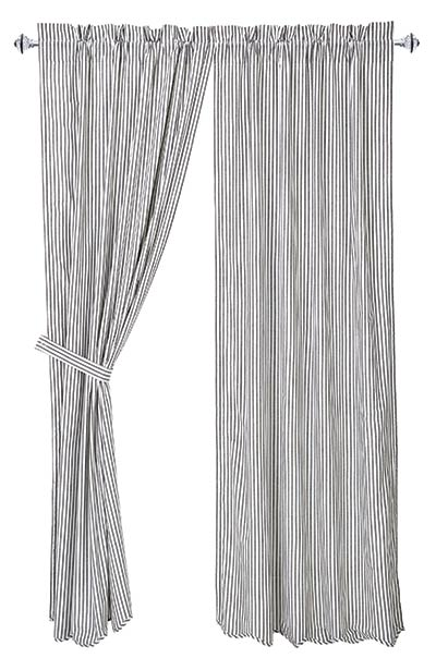 Josephine Black Curtain Panels (84 inch)
