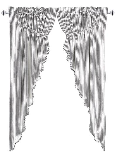 Josephine Black Prairie Curtain (63 inch)
