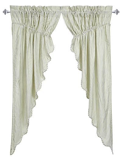 Josephine Sage Prairie Curtain (63 inch)