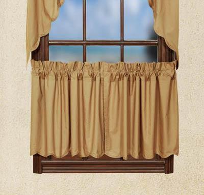 Khaki Cafe Curtains