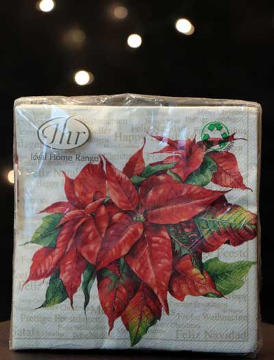 Holiday Greetings Paper Luncheon Napkins
