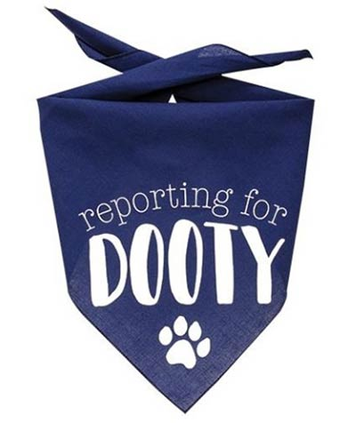 Reporting for Dooty Dog Bandana