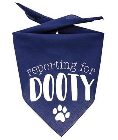 Reporting for Dooty Dog Bandana