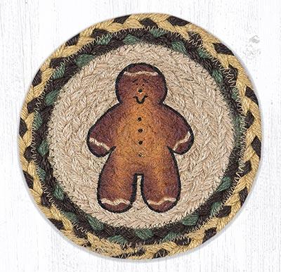 Gingerbread Man Round 7 inch Trivet
