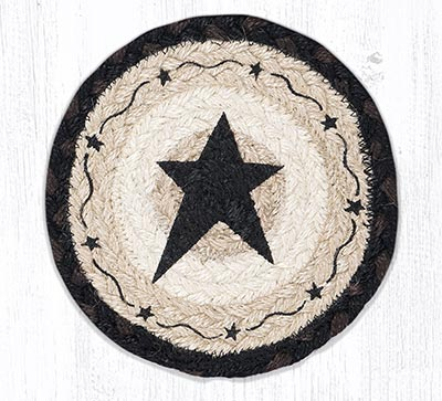 Primitive Black Star Round 7 inch Trivet