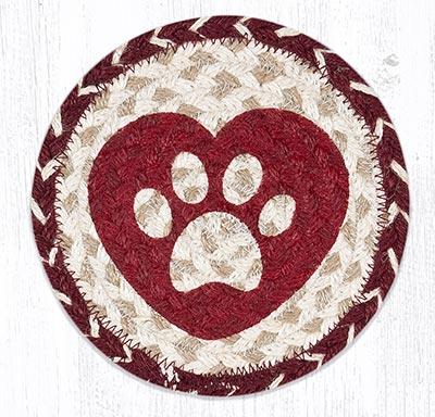 Heart Paw Round 7 inch Trivet