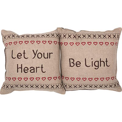 Let Your Heart Merry Little Christmas Pillow (Set of 2)