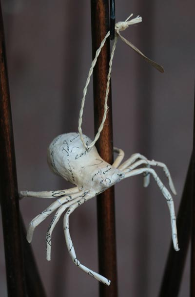 Recycled Paper Spider Ornament - Small
