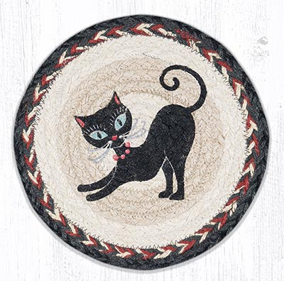 Crazy Cat Red Beads 10 inch Tablemat