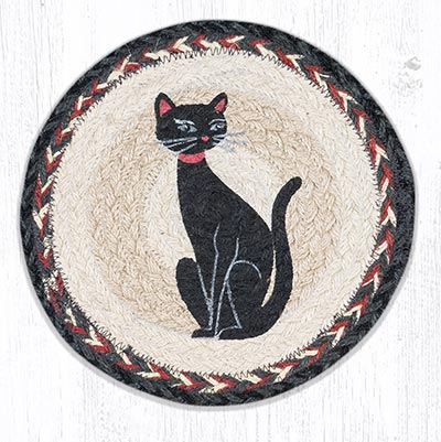 Crazy Cat Red Ribbon 10 inch Tablemat