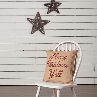 Merry Christmas Yall Pillow (18x18)