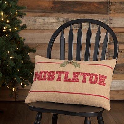 Mistletoe Pillow (14x22)