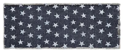Multi Star Navy Tablerunner, 36 inch