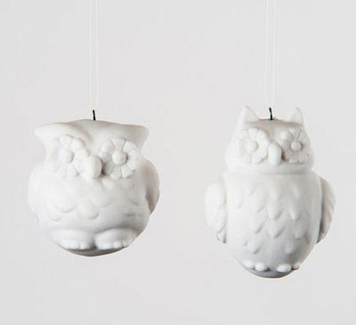 Porcelain Owl Ornament