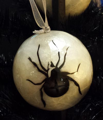 Capiz Ball Ornament - Spider