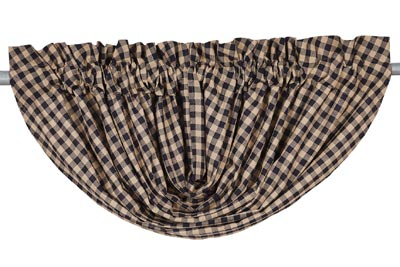 Navy Check Valance - Balloon