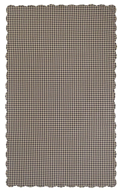 Navy Check Tablecloth - 60 x 102 inch