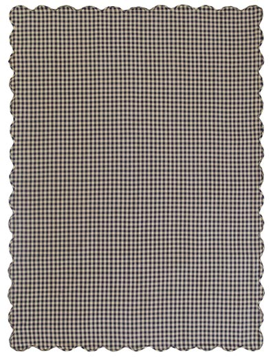 Navy Check Tablecloth - 60 x 80 inch