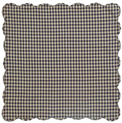 Navy Check Tabletopper/Tablecloth (40 x 40 inch)