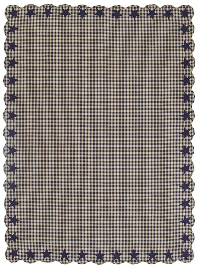 Navy Star Tablecloth - 60 x 80 inch