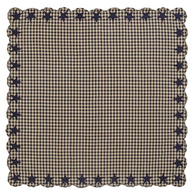 Navy Star Tablecloth - 60 x 60 inch