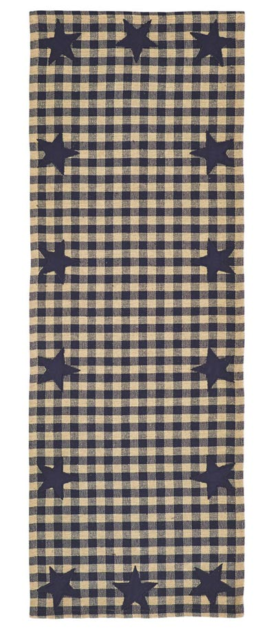 Navy Star Table Runner - 36 inch